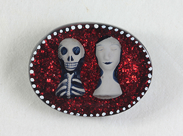 Rachel Larkins. brooch