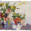 George Rowlett Two Pots of January Flowers, Walmer