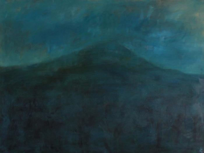 Kumar Saraff. Mountain oil on canvas lighter 1