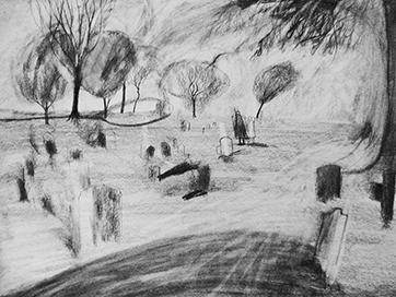 Rachel Larkins October graveyard